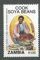 Zambia, 1991 (#554a), Woman Cooking Soya Beans, Vegetables, Gemüse, Verdure, Legumes, Trees, Árboles, Arbres - Agriculture