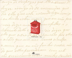 TIMBRES - STAMPS - PORTUGAL -1993 - BOÎTES AUX LETTRES - BLOC AVEC TIMBRE NEUF - Post