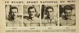 1920 RUGBY SPORT NATIONAL DU MIDI - STRUXIANO - JAURRÉGUY - BORDES - BILLAC - SERRE - SEBIDO ETC...... - 1900 - 1949