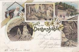 4705) GRUSS Aus Der DECHENHÖHLE - Super LITHO Mit BAHNHOF - Krystallgrotte U. Orgelgrotte - ALT !! 1900 !! - Otros