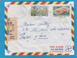 """LETTRE RECOMMANDEE DE FORT LAMY AVEC TIMBRES """"POLDERS DU LAC/MUSEE NATIONAL"""". - Chad (1960-...)"""