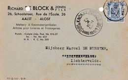 Gelopen Kaart Aalst 2 => Lichtervelde Maar Met Toeristische Stempel Van KNOKKE / Richard De Block - Airmail