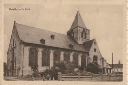"AK Opwijk, De Kerk 1948 - Mit Stempel ""Österreichische Zensurstelle 519"" - Opwijk"