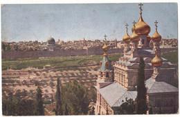ASIE ISRAËL JERUSALEM : JERUSALEM DU MONT DES OLIVIERS -  N° 2629 SERIE 13 - CIRCULEE VERS ANTIOCHE EN 1925 - Israel