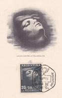 ARGENTINA. LUCHA CONTRA LA POLIOMIELITIS. 1956 FDC TAREJTA. CARTE POLIOMYÉLITE POLIOMYELITIS.- LILHU - Disease