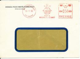 Sweden Cover With Meter Cancel Sent To Denmark Stockholm 16-1-1958 (Svenska Maskinbefälsförbundet) - Covers & Documents