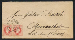 Austria 1880 Cover From Vienna (Landstrasse) To Switzerland, Franked With Two 5kr Red Fine Printing, Superb Condition - Covers & Documents