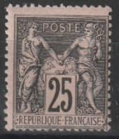 Année 1886 - N° 97 - Type Sage - 25 C. Noir Sur Rose - Type II - Neuf - Voir Scan. - 1876-1878 Sage (Tipo I)