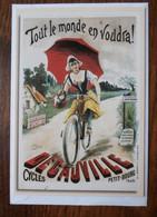 """Cycles Decauville """"Tout Le Monde En Voudra"""" - D'après Eugène Clouet (1894) Double Carte - Advertising"""