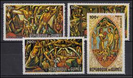 Guinea: Wandgemälde / Wall Paintings - Afrikanische Kunst 1967, 4 Werte, Satz ** - Otros