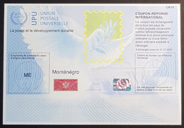 2019, Montenegro Coupon Réponse International, UPU, Union Postale Universelle, Exchanged By 31 12 2021 - Montenegro