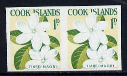Cook Islands 1963 Def 1d Tiare Maori Flower In U/m Imperf Pair (as SG 163) - Cook Islands