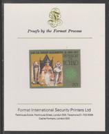 Chad 1977 Silver Jubilee 250f Imperf Proof Format International Proof Card, As SG 493, Mi 782B - Chad (1960-...)
