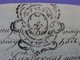 """1788 Généralité De LYON Papier Timbre N°238 De """"P.P.2 SOLS 4D"""" PRAIRE Contre JARIE Négociants à Saint-Etienne Loire - Seals Of Generality"""