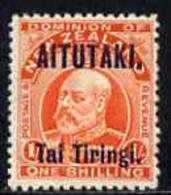 Cook Islands - Aitutaki 1911-16 KE7 1s Vermilion Mounted Mint SG12 - Cook Islands