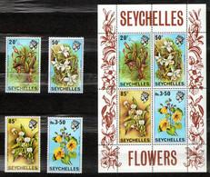 Seychelles 1970 Mi 282-285, Sh1 Flowers - MNH - Seychelles (1976-...)