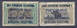 210038989  RUANDA-URUNDI.  YVERT  Nº  30/4  */MH - 1916-22: Mint/hinged