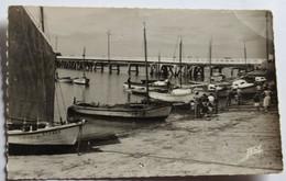 2 CPSM 85 L'Aiguillon Sur Mer Port Pont De La Faute Années 50 - Autres Communes