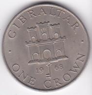 Gibraltar 1 Crown 1968  Elizabeth II Cupronickel , KM# 4 - Gibraltar