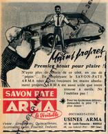 Ancienne Publicité (1959) : SAVON PATE ARMA (rouge), Mains Propres, Premier Atout Pour Plaire, Marseille, Droguerie - Werbung