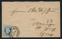 Austria 1875 Cover From Vienna (Alsergrund) To Weiningen, Switzerland, Franked With A 10kr Blue Fine Printing - Covers & Documents