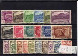 REUNION Série Vues De L'Ile 1939/1940 N°163/174 ** + Série Taxe 1933 T/16/25 ** - Unused Stamps