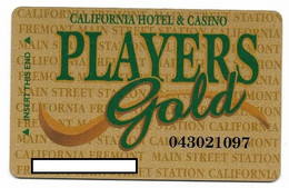 California Casino, Las Vegas, Older Used Slot Or Player's Card, # California-3 - Cartes De Casino