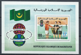 Mauritanie YT Bloc 19 Neuf Sans Charnière XX MNH Football - Mauritania (1960-...)