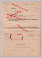 Orginal OberfeldKommandantur 672 Nivelles 1943 Lagand Emile Jodoigne  Verwaltungschef Nijvel BELGIE BELGIQUE - 1939-45