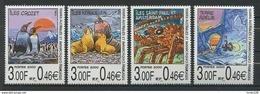TAAF 2000  N° 281/284 ** Neufs MNH Superbes C 13 € Faune Oiseaux Crustacés Birds Fauna Iles Animaux - Neufs