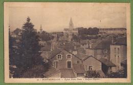 CPA Vue Rare - VIENNE - MONTMORILLON - ÉGLISE NOTRE DAME - HOSPICE HOPITAL - édition A Briand / 20 - Montmorillon
