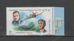 FRANCE / 2021 / Y&T PA N° 85a ** : Pierre Clostermann & Claire Romain (du Feuillet De 10 TP) X 1 BdF D - 1960-.... Postfris