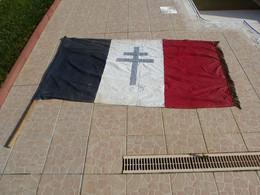 Drapeau étendard Croix De Lorraine - 1939-45