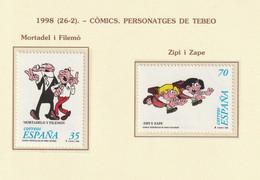 1998, Comics 2v ** Mi 3371-72 - Zipi Y Zape / Martadelo Y Filemón - 1991-00 Nuevos & Fijasellos