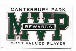 Canterbury Park Casino, Shakopee, MN, U.S.A., Older Used Slot Or Player's Card, # Canterburypark-1 - Cartes De Casino