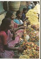 """Livret, Inde , """" Marché Aux Fleurs """" ,Aspect De La Vie Dans La Région De Pondichéry ,Ed. F.P. - Inde"""