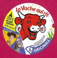 Etiquettes De Fromage LA VACHE QUI RIT Réf 76043980.    Pixar.   8 Portions. - Cheese