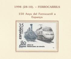 1998, 150 Years Railways 1v ** Mi 3427 - 1991-00 Nuevos & Fijasellos
