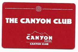 Canyon Casino, Central City, Black Hawk & Cripple Creek, CO, U.S.A., Older Used Slot Or Player's Card, # Canyon-2 - Cartes De Casino