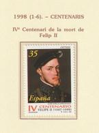 1998, King Philip II 1v ** Mi 3387 - 1991-00 Nuevos & Fijasellos