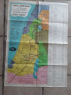 ISRAËL PALESTINA AFMETINGEN 69 CM  OP 50 CM - Non Classificati