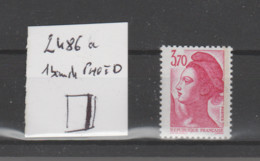 FRANCE / 1987 / Y&T N° 2486a ** : Liberté 3F70 Rose (1 Seule Bande PHO à Droite) X 1 - Unused Stamps