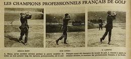 1920 GOLF - LES CHAMPIONS PROFESSIONNELS FRANÇAIS DE GOLF - MASSY - GASSIAT - LAFFITTE - BOTCATZOU ETC.... - 1900 - 1949