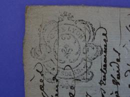 """1788 Généralité De LYON Papier Timbre N°237 De """"D.F. 1SOL 5D 1/2"""" Claude L'Hospital Avocat à Saint-Etienne (Loire) - Seals Of Generality"""