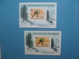 Niger épreuve De Luxe Et Bloc Feuillet N° B13 1976 Jeux Olympiques D'Hiver Innsbruck - Autriche Neuf** Sport  à Voir - Mauritania (1960-...)