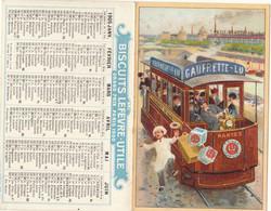 Nantes , Petit Calendrier 1900 : Biscuits Lefèvre Utile  LU , Genre Litho Tramway      ///  Ref.  Mai. 21 // N° 15.312 - Formato Piccolo : ...-1900