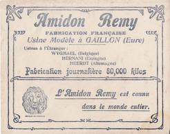 Buvard Année 1900 - Amidon REMY - Usine Modèle à GAILLON - WYGMAEL (Belgique) - HERNANI (Espagne) - HEERDT (Allemagne) - Unclassified