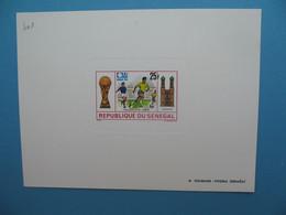 Sénégal épreuve De Luxe N° 401 Sport  Football Yougoslavie Brésil 1974  Neuf ** à Voir - Senegal (1960-...)