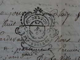 """1788 Généralité De LYON Papier Timbre N°238 De """"P.P. 2SOLS 4D."""" Jacques Colomb + Louis Salle à Saint-Etienne (Loire) - Seals Of Generality"""