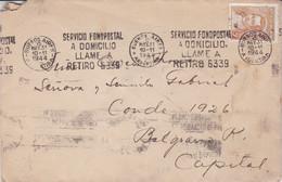 "ARGENTINE. ""SERVICIO FONOPOSTAL A DOMICILIO"". ENVELOPPE. CIRCULEE BUENOS AIRES, ANNEE 1944. BANDELETA PARLANTE.- LILHU - Covers & Documents"